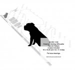 American Bulldog Silhouette Yard Art Woodworking Plan - fee plans from WoodworkersWorkshop® Online Store - American Bulldogs,pets,animals,yard art,painting wood crafts,scrollsawing patterns,drawings,plywood,plywoodworking plans,woodworkers projects,workshop blueprints