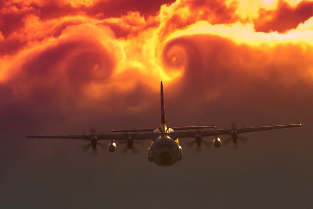 Clouds swirl