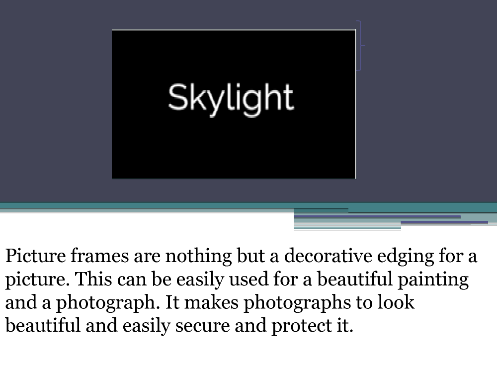 Skylightframe Photo Frame Types Online Store Authorstream