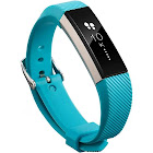Zodaca for Fitbit Alta - TPU Rubber Wristband Replacement Sports Watch Wrist Band Strap w/ Metal Buckle Clasp, Size: Turquoise, Blue