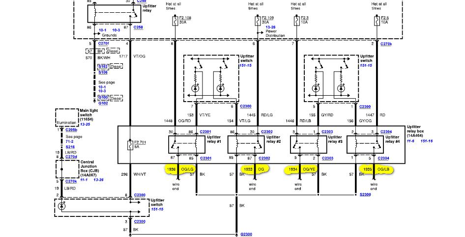 2019 F350 Upfitter Switch Wiring Diagram