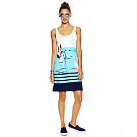 C Wonder Jersey Sunset Printed Tank Dress