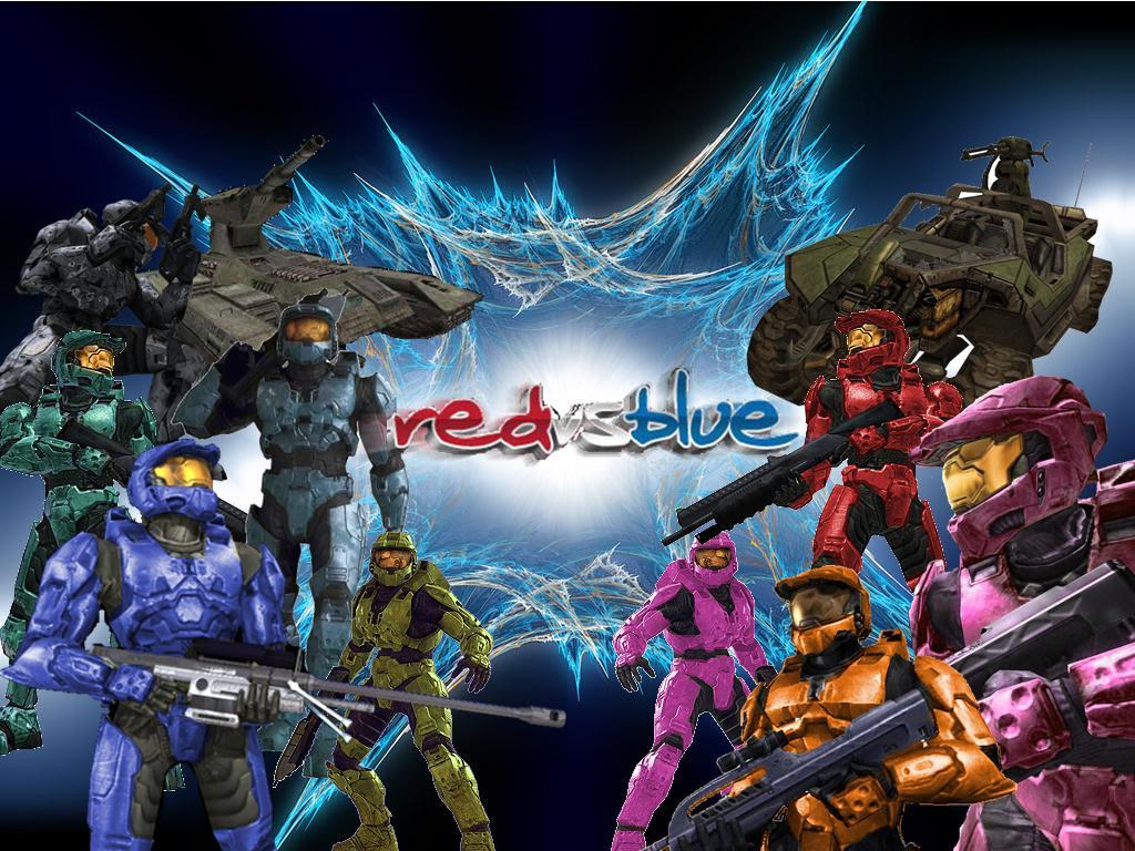 Red Vs Blue Wallpaper Sf Wallpaper