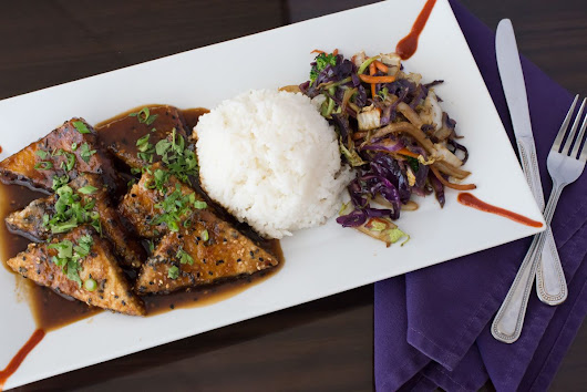 Taking Tofu to the Next Level: Sesame Ginger Tofu at Purple Olive