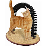 Perfect Cat Self Groomer Arch with Bag of Catnip - Cat Grooming Arch
