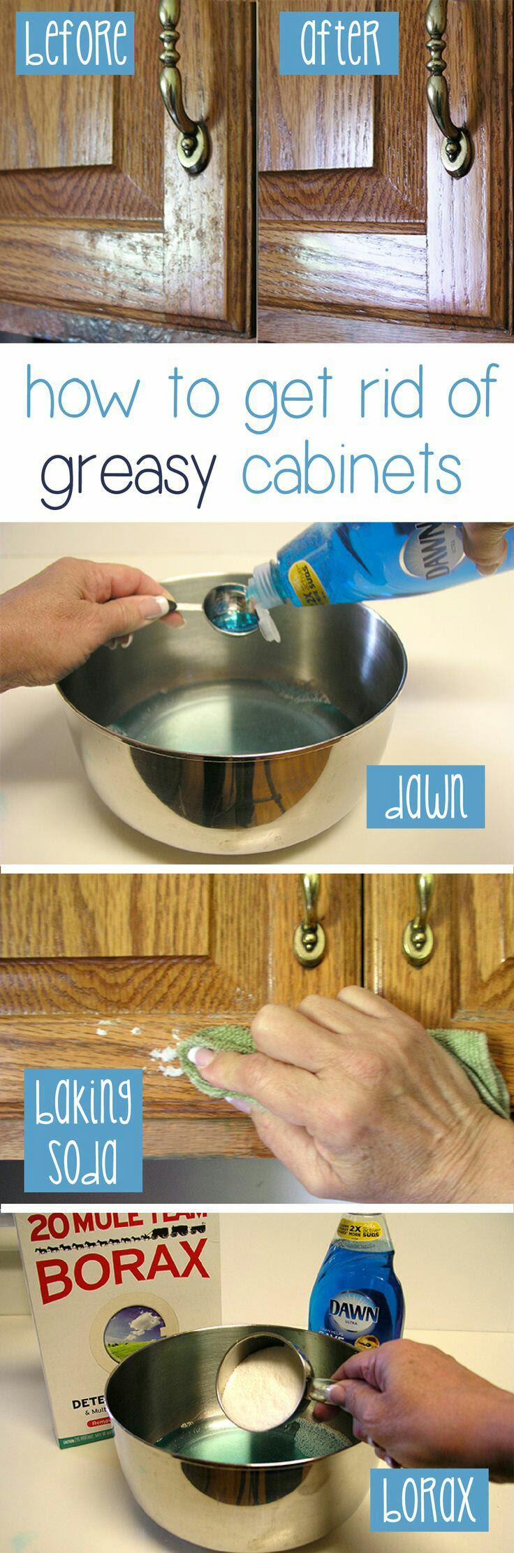 How to Clean Grease From Kitchen Cabinet Doors | Cleaning ...