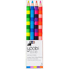 Yoobi Jumbo Color Stripe Colored Pencils - Multicolor, 4 Pack
