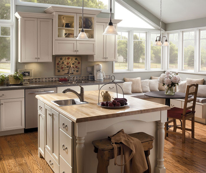 Off White Painted Kitchen Cabinets - Kemper Cabinetry