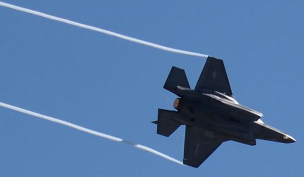 The F-35B Lightning II soars in the air during a demo at the Miramar Air Show...on September 29, 2018.