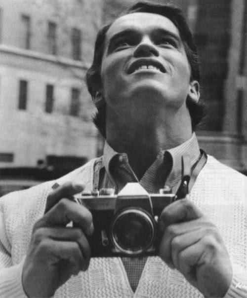 Arnold Schwarzenegger Des gens célèbres avec des appareils photos  photo liens divers bonus