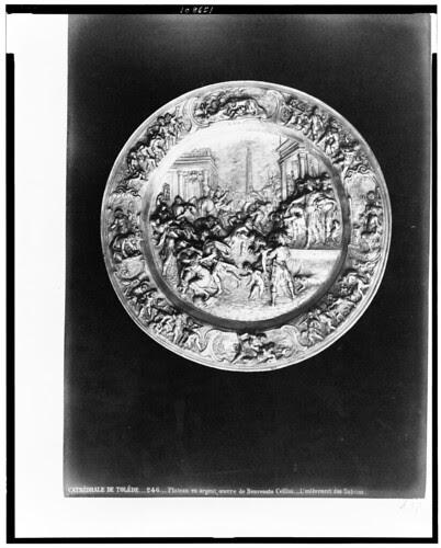 El Rapto de la Sabinas de Benvenuto Cellini (Catedral de Toledo) en el siglo XIX. Fotografía de Jean Laurent. The Library of Congress of the United States of America