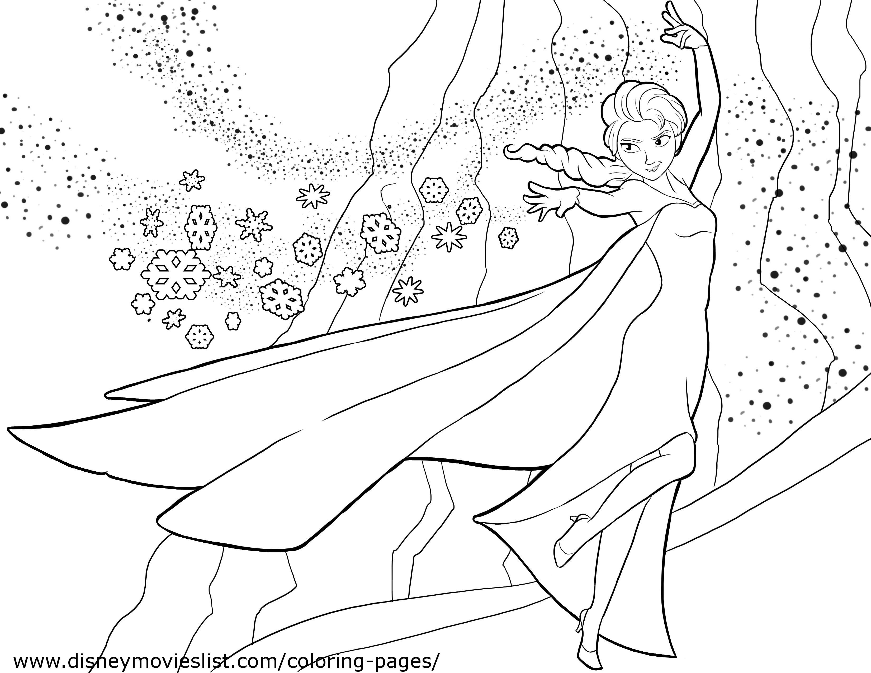 Elsa And Anna Coloring Pages Printable At Getcoloringscom Free