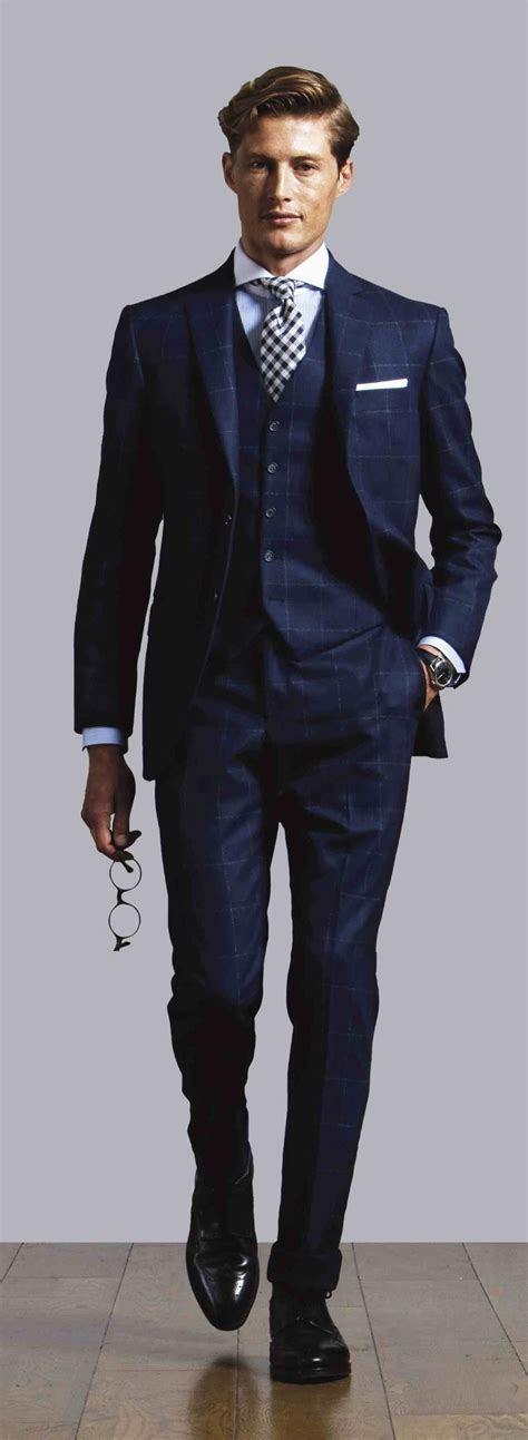 Three piece navy suit   Delft Blue Wedding Ideas   Pinterest