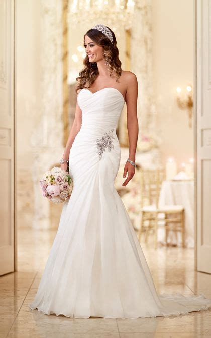 The 25  best Strapless wedding dresses ideas on Pinterest