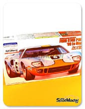 Kit 1/24 Fujimi - Ford GT40 P1045 Gulf - Nº 6 - 24 Horas de Le Mans 1969 - maqueta de plástico