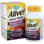 Nature's Way Alive Once Daily Women's 50 MultiVitamin & Whole Food Energizer Ultra Potency 60 Tablets