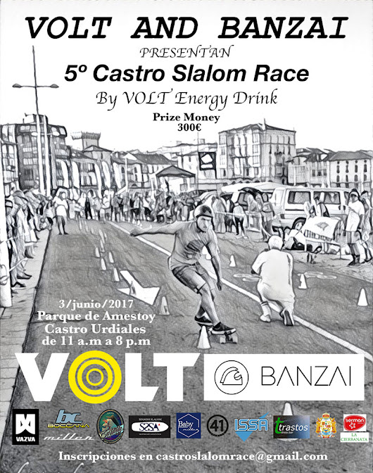 V Castro Slalom Race by Volt Energy - 40sk8 | Longboard & Old School