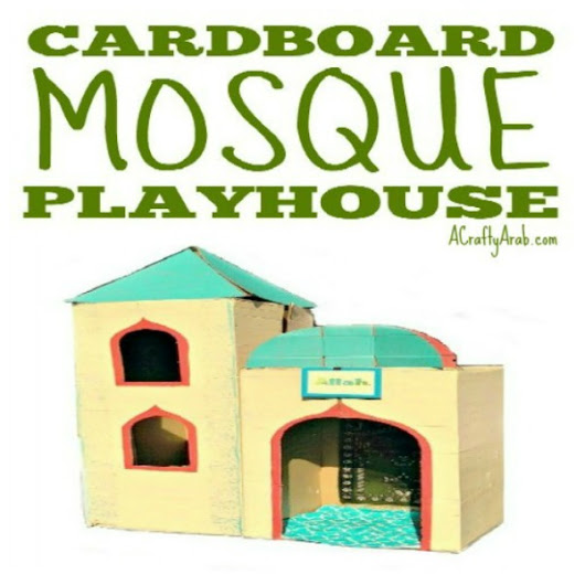 Cardboard Mosque Playhouse {Tutorial} by A Crafty Arab