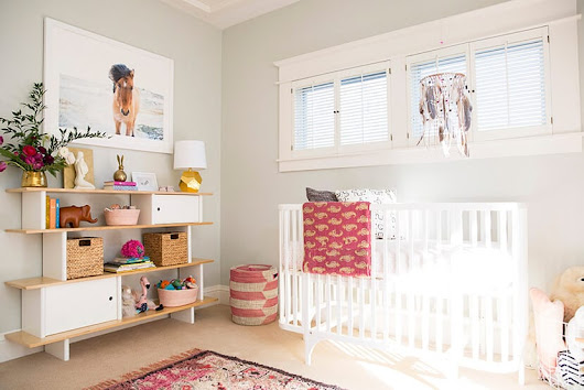 Neutral (well, mostly) California Nursery - Emily Henderson