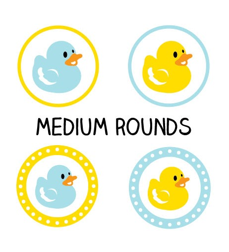 Printable Ducky Labels Duck Baby Shower Stickers Or Tags