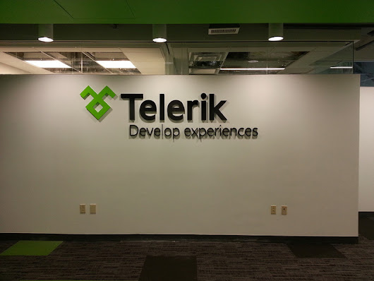 Telerik Develops New Signage with Impact Signs