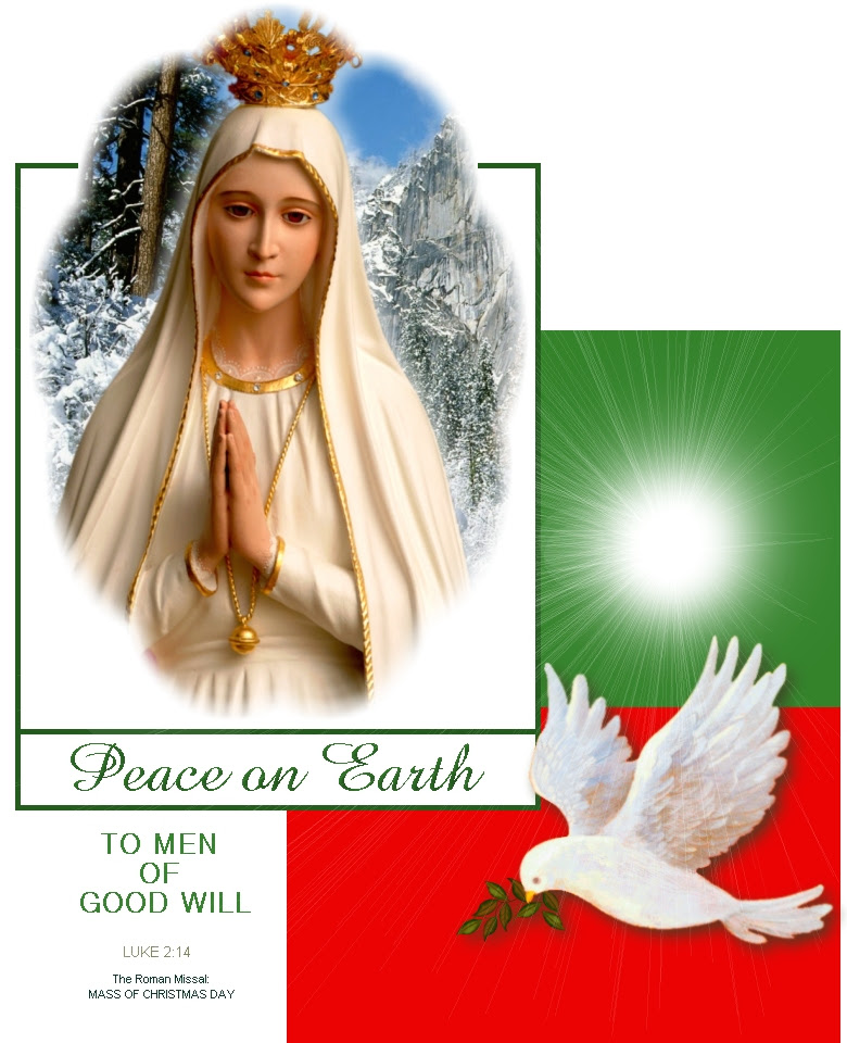 OUR LADY OF FATIMA WITH DOVE