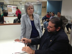 Los diputados Carmen Granados y Claudio Monge. Foto cortesía del PAC.