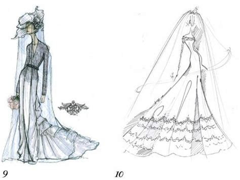 kate middleton wedding gown sketches