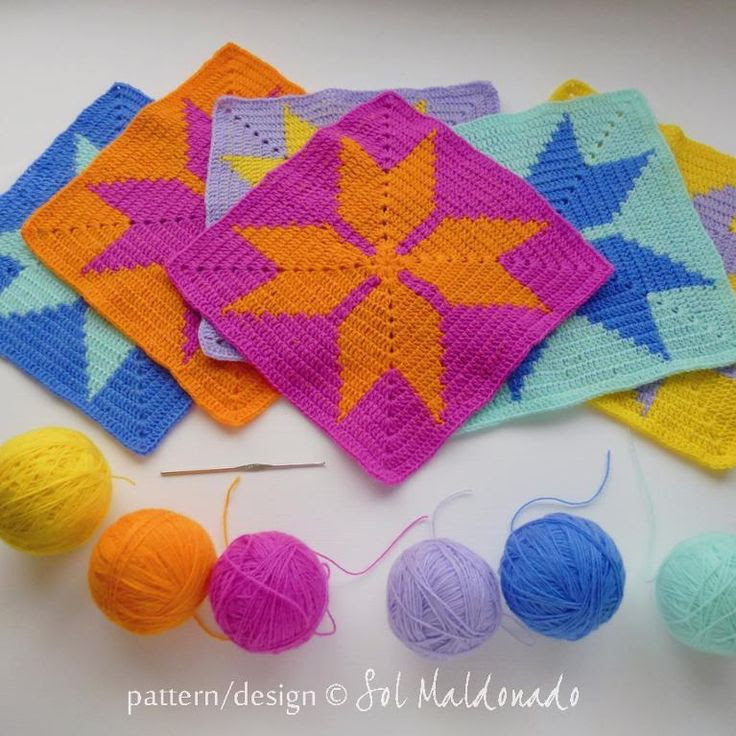 Crocheting: Geometric baby blanket tapestry crochet