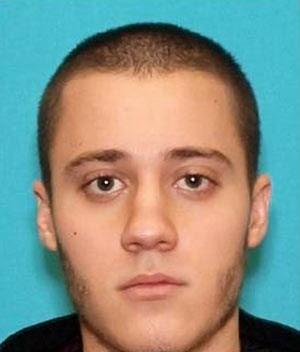 Paul Ciancia, suspeito do ataque desta sexta, em foto divulgada pelas autoridades (Foto: AP)
