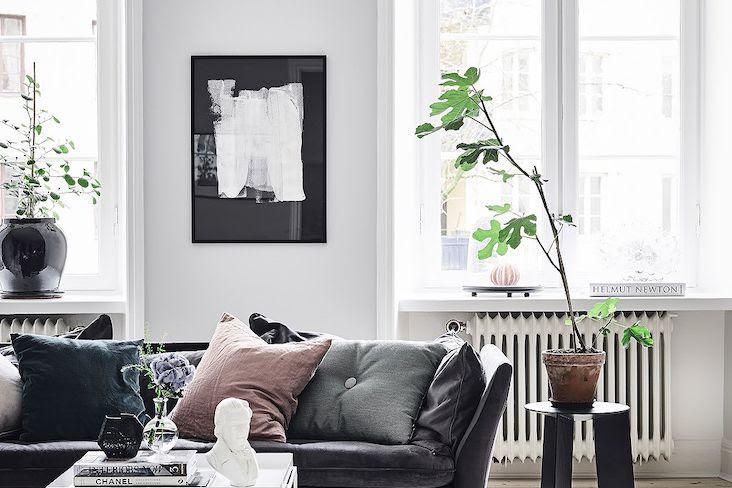 Couleur Du Noir Dans Le Salon Cocon Deco Vie Nomade