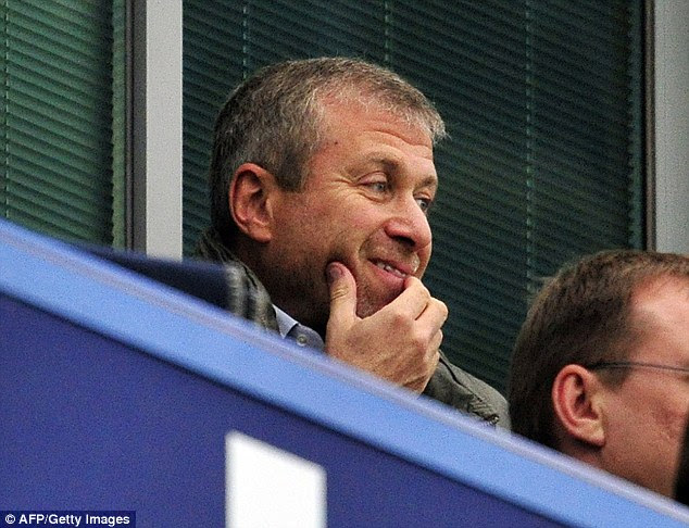 Slightly better: Roman Abramovich was in the stands again to watch the victory
