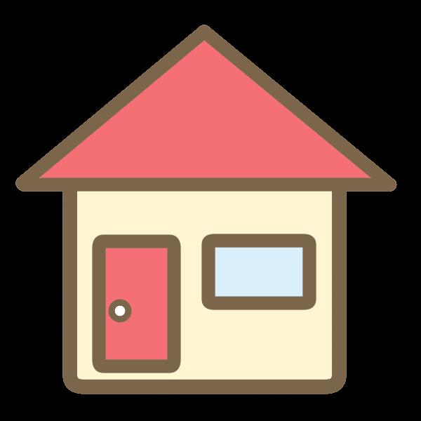 三角屋根の家赤のイラスト かわいいフリー素材が無料のイラストレイン