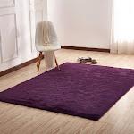 "Luxury Soft Faux Fur Sheepskin Area Rug - 7'6"" x 10'3"" / Dark Purple"