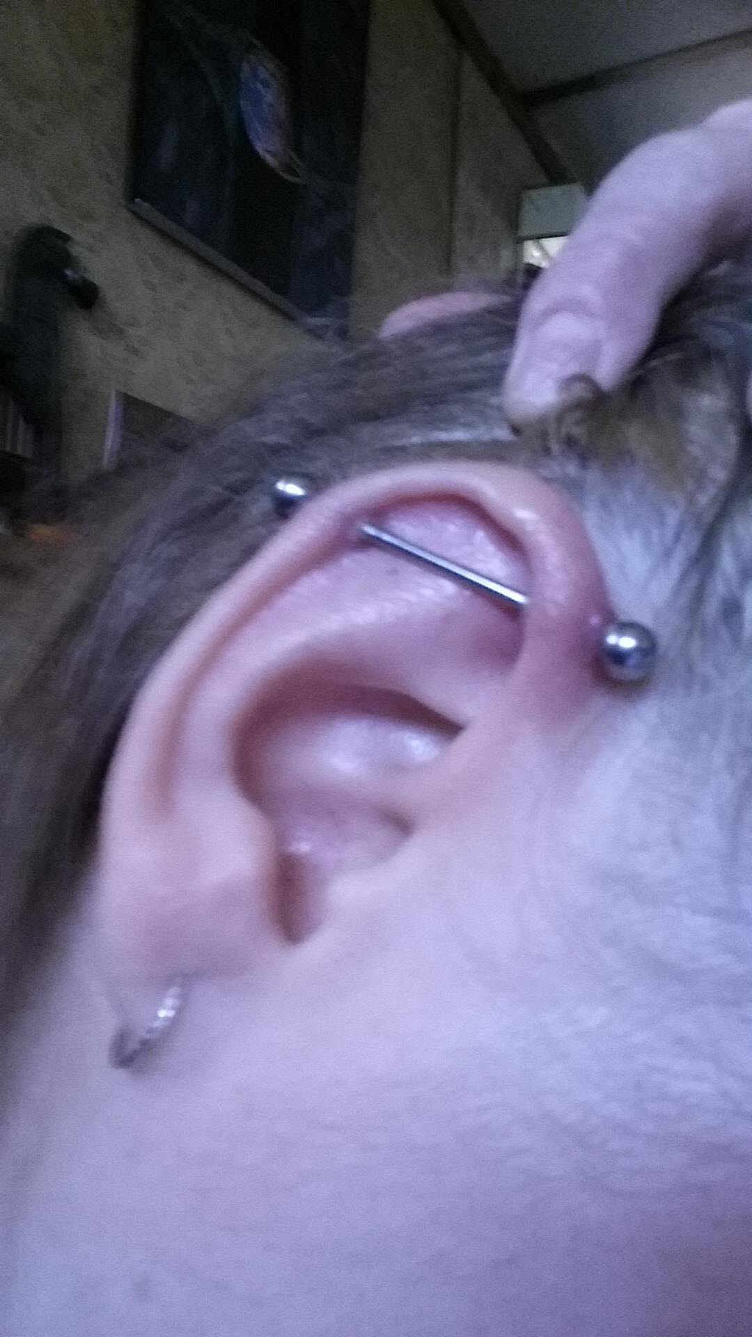 4 Wks Industrial How Do I Get Rid Of The Bumps Piercing