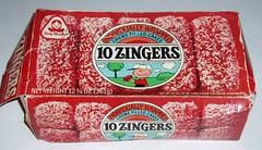 Peanuts Zingers box