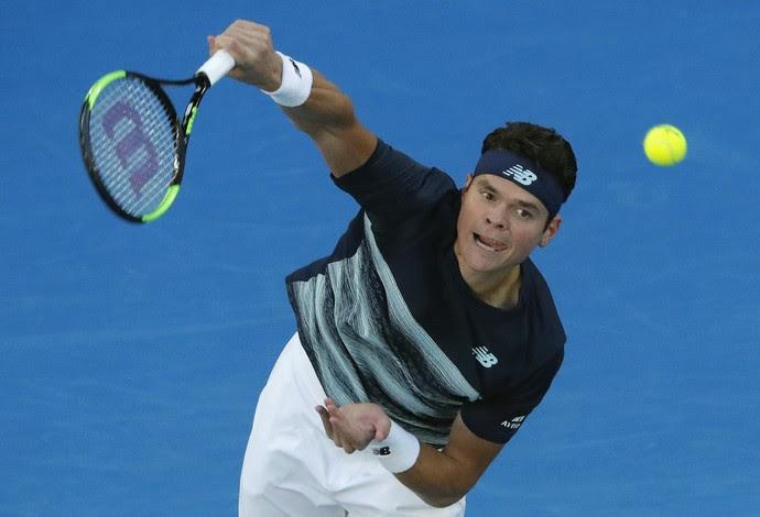 Milos Raonic na partida contra Rafael Nadal pelo Aberto da Austrália (Foto: REUTERS/Jason Reed)