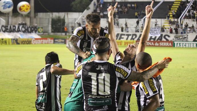 Comemoração Ceará (Foto: Diego Simonetti/Blog do Major)
