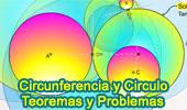 Circunferencia, Circulo, Teoremas y Problemas.