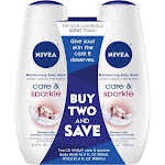 Nivea Care & Sparkle Body Wash Dual Pack - 33.8 fl oz