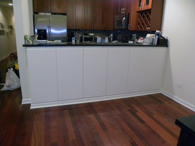 Custom Painted Cabinets Under Bar Height Counter by Pryor ...