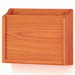 Wooden Mallet PCH15-1MO Single Privacy Letter Size Chart Holder in Medium Oak - HIPAA Compliant