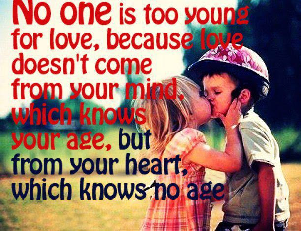 Yoddler No One Is Too Young For Love Because Love Doesnt Come