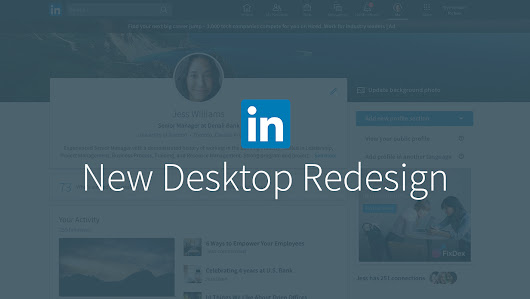 LinkedIn Desktop Redesign Puts Conversations and Content at the Center