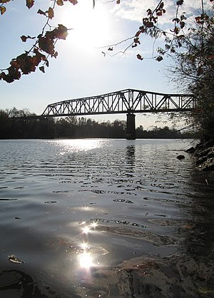The Black Warrior River running through Tuscal...