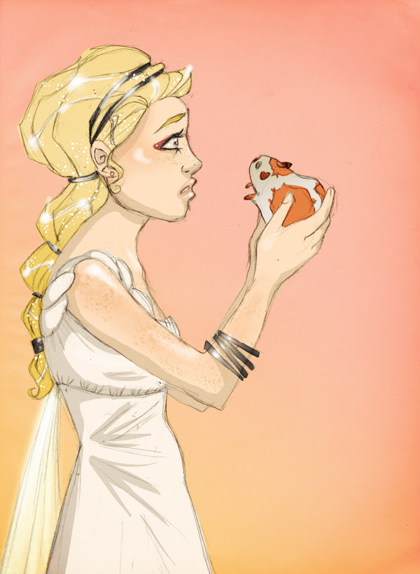 Annabeth and Percy by apricotteacup