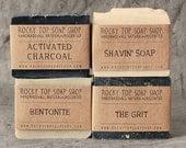 Manly Man Soap Set - Natural Soap - Handmade Soap - Unscented Soap - Mens Gift Set