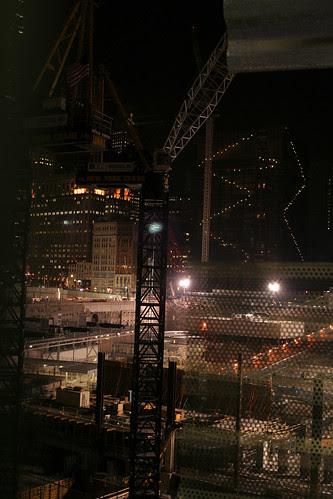 Cranes in the dark