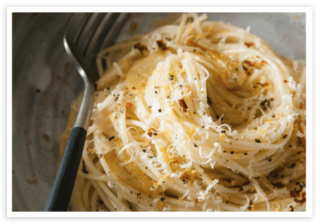 Capellini with Garlic, Lemon and Parmesan - Bosa Foods