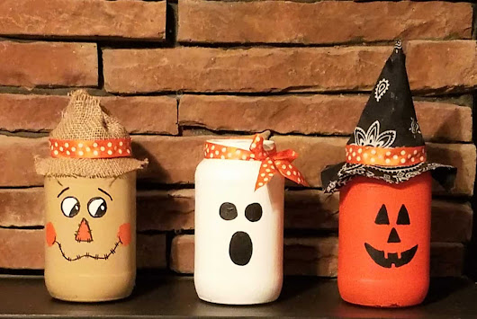 Halloween Decorations From Mason Jars ~ DIY Home Craft Projects
